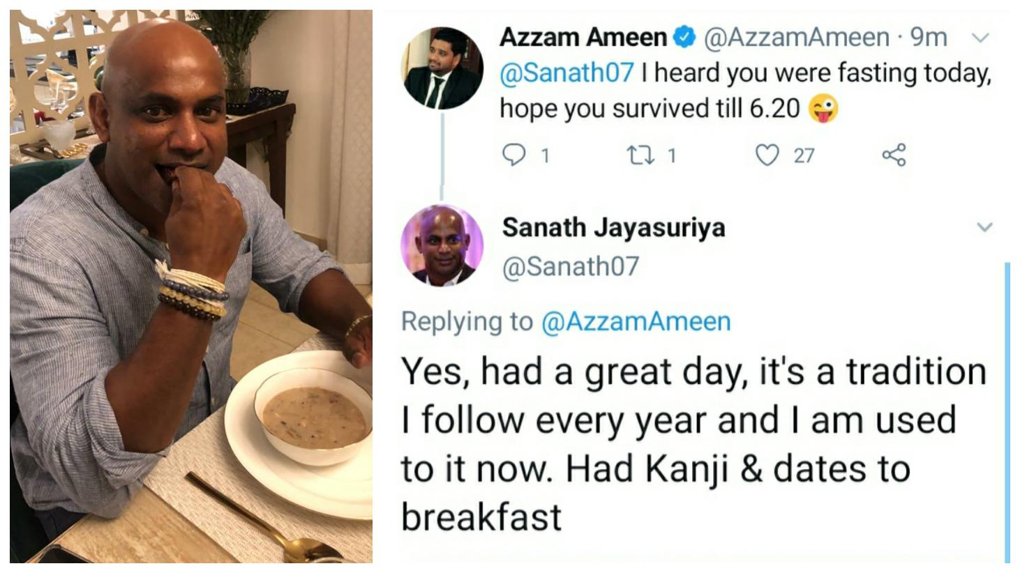 Sanath Jayasuriya fasting during Ramadan