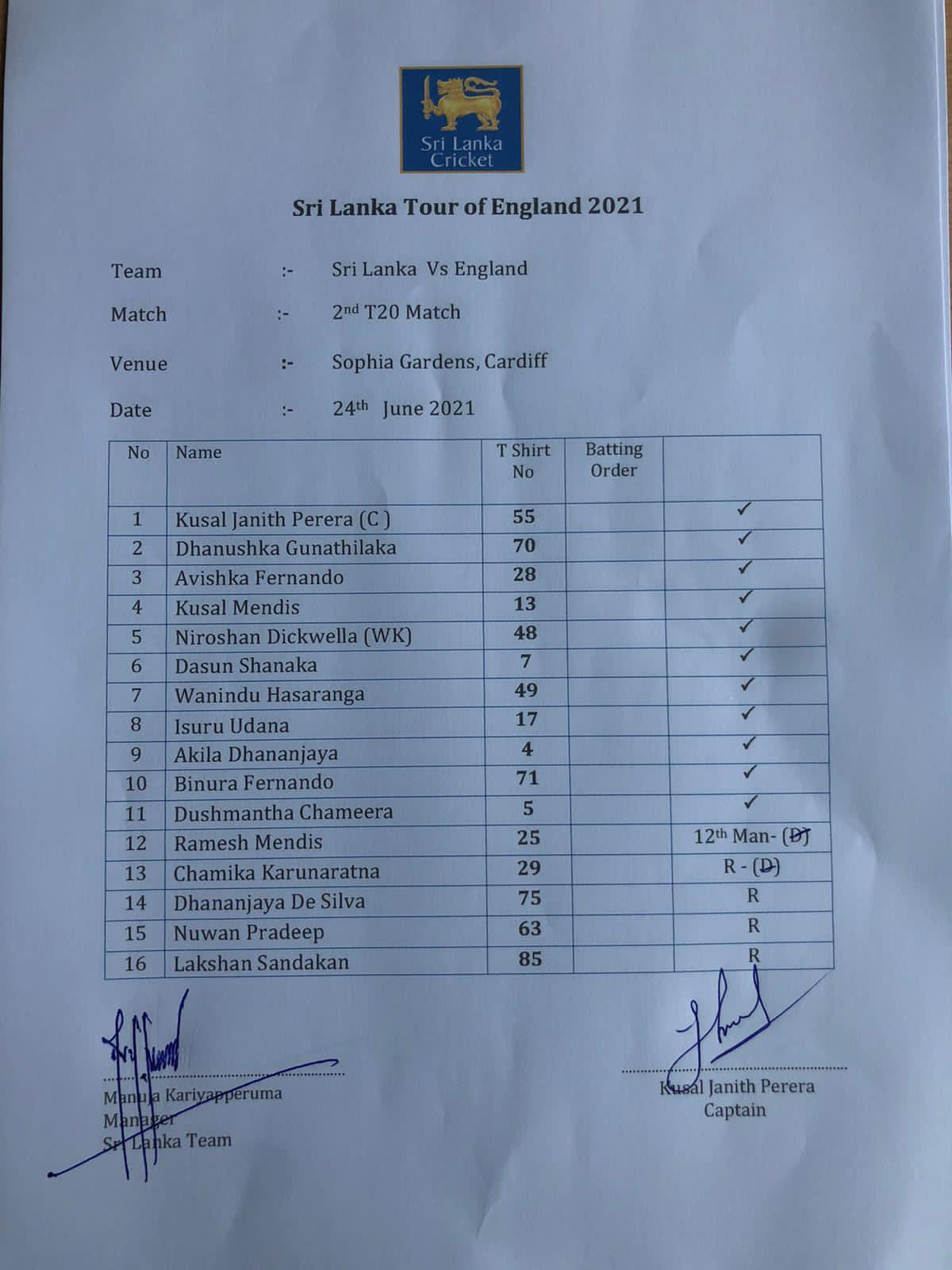 Sri Lanka to bat first : Dickwella in