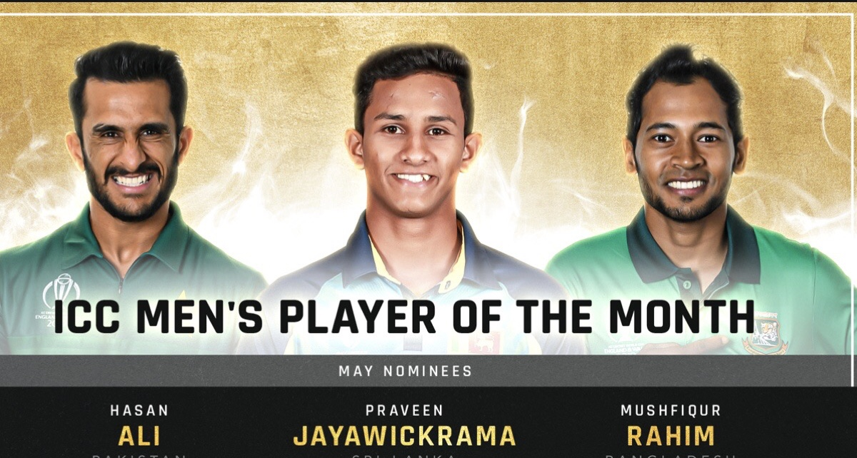 ICC Men's Player of the Month for May revealed
