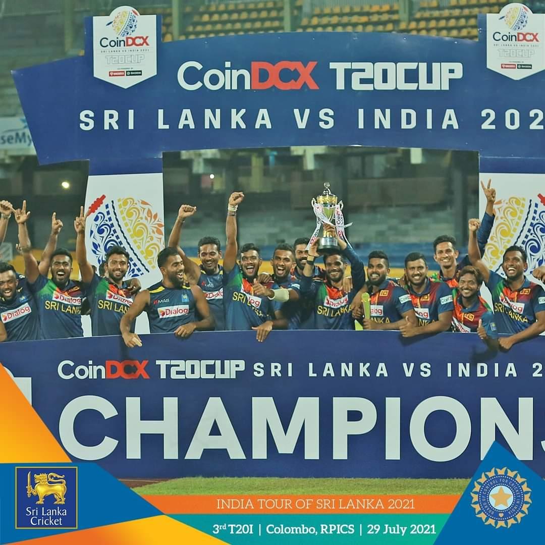 SLC announces money bonus for Team Sri Lanka after series win against India