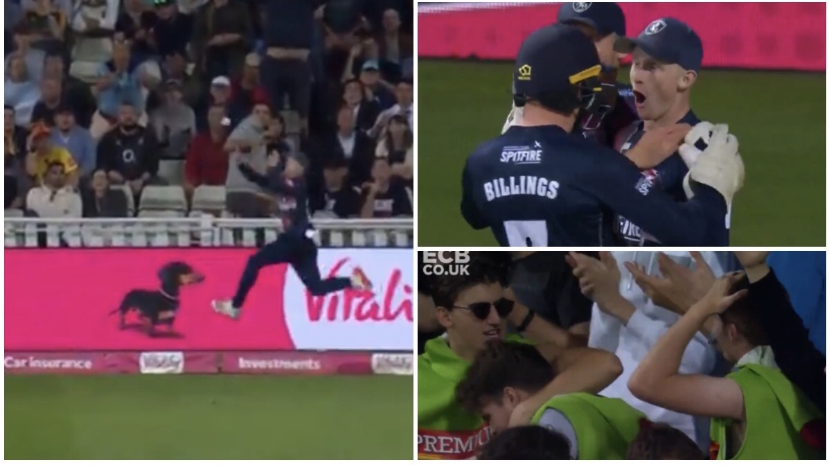 Watch: Screamer of a catch in the T20 Blast Final, Reaction of the fans says it all